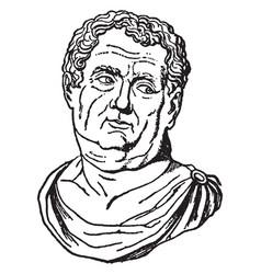 Emperor aulus vitellius vintage vector