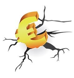 Euro crisis vector