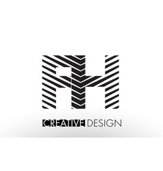 fh f h lines letter design with creative elegant vector image