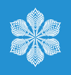 figured snowflake icon simple style vector image