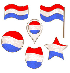 flag of luxembourg performed in defferent shapes vector image