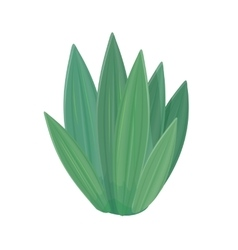 Flower icon in flat style design green nature vector