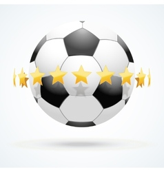 football ball with golden vector image