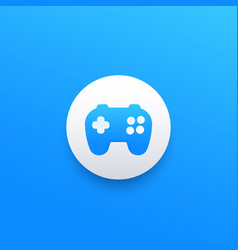 games logo icon with gamepad vector image