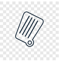 garbage concept linear icon isolated on vector image