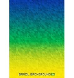 Geometric digital background Brazil 2016 A4 size vector