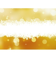 Golden christmas background EPS 8 vector image