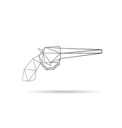 Gun abstract isolated vector