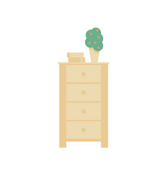 highboy flat it is executed in the old and vector image