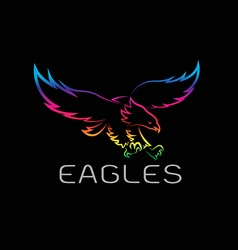 Image of an eagles design vector