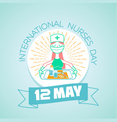 international nurses day 12 may vector image