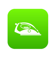 Iron icon digital green vector