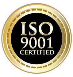 ISO 9001 vector image