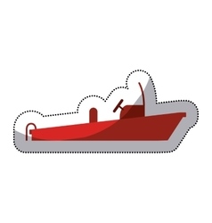Isolated red boat of emergency design vector