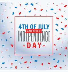 july 4th celebration background vector image