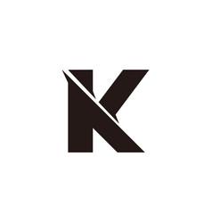Letter ak slice geometric simple logo vector