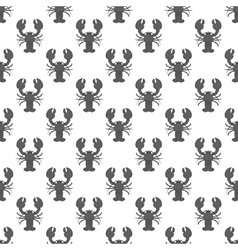 Lobster seamless pattern vector