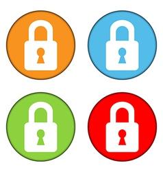 Lock button set vector image