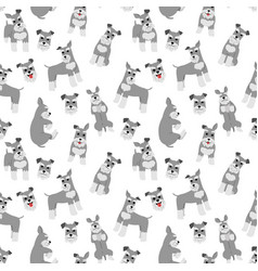 Miniature schnauzer seamless pattern vector