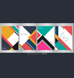 modern colorful brochure classic in geometrical vector image