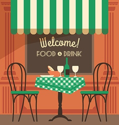 modern flat design of street cafe vector image