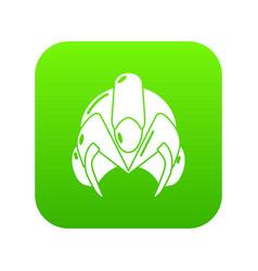 motorcycle helmet fantastic icon green vector image