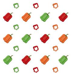 peppers vegetables ingredient food cook seamless vector image