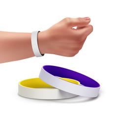 Rubber bracelets vector