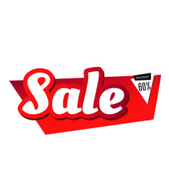 sale discount up to 60 red background imag vector image