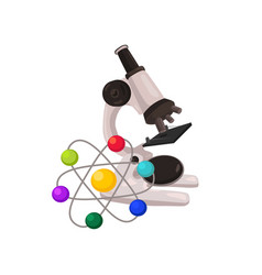 school microscope isolated vector image