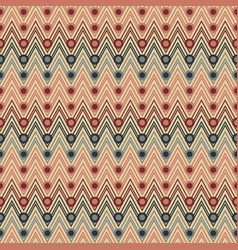 seamless zigzag pattern with circles vector image