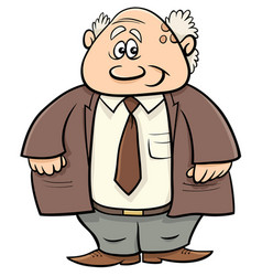 senior man professor cartoon vector image