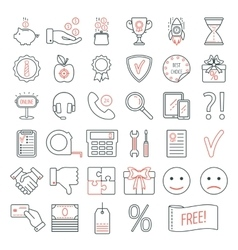 Set of linear web design icons Modern line icons vector