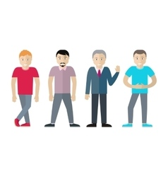 Set of Men Different Age and Status vector