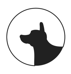 Silhouette of a dog head corgi pembroke welsh vector