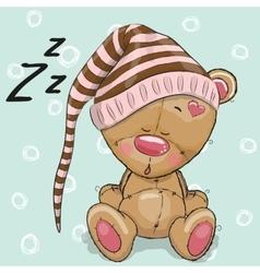 Sleeping cute Bear vector