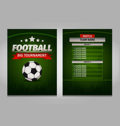 Soccer football champions final scoreboard table vector