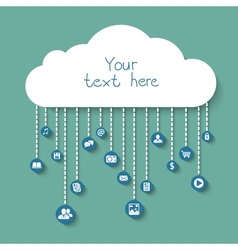 Social and business in the cloud vector image
