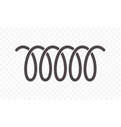 spiral spring or swirl line icon vector image