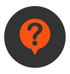 Status flat orange and gray colors round button vector