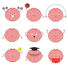 Strong healthy sports and smart brain vector