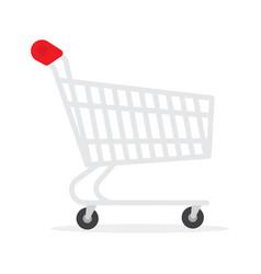 supermarket shopping cart basket used vector image