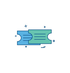 tickets icon design vector image