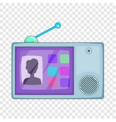Video intercom icon cartoon style vector