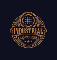 Vintage decorative luxury logo design simple vector