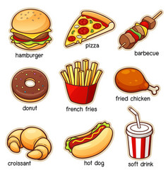 vocabulary food vector image