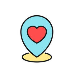 Wedding party map location icon pin locator with vector