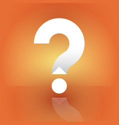 white question mark on an orange background vector image