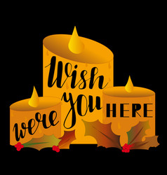 Wish you were here background vector