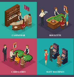 casino isometric composition vector image